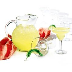 Libbey Clear Cancun Margarita 7-Piece Set ($27) ❤ liked on Polyvore featuring home, kitchen & dining, clear, libbey, libbey glassware set, libbey margarita glass and libbey margarita glasses