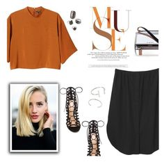 """""""Maybe"""" by fyenksfiona ❤ liked on Polyvore featuring moda, Monki, Gianvito Rossi, Givenchy, Forever 21, FashionForward, forever21 e friday"""