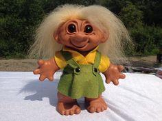 1960's DAM Troll Doll Girl 8 inches
