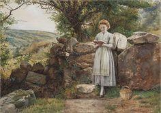 George_Goodwin_Kilburne_A_peaceful_read_1869