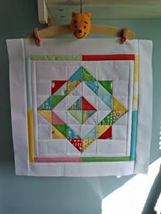 One large quilt block