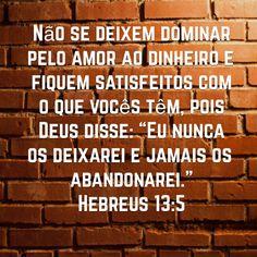 Hebreus 13:5