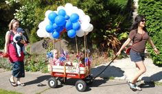 covered wagon kiddie float ideas | Such a cool wagon for parade!