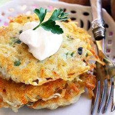 Crispy Scallion Potato Pancakes
