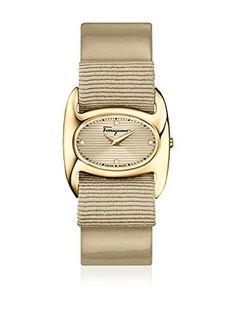 Salvatore Ferragamo Timepieces Quarzuhr Woman hellbeige 27 mm