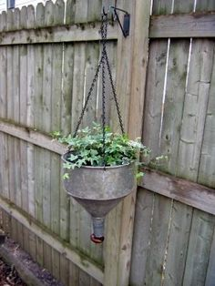repurposed oil funnel...  just another reason why I need to go hunting for junk.