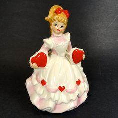 Lefton True Love Valentine Girl Music Box