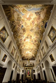 """The art gallery in the Cathedral of Toledo (Spain). The principal painting is """"El expolio"""" by El Greco"""