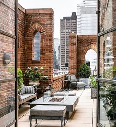 Urban Gardens | Penthouse terrace merging classic architecture w/ contemporary design | NYC