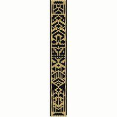 Art Deco 1 Peyote Bead Pattern Bracelet Cuff by SmartArtsSupply Seed Bead Patterns, Peyote Patterns, Beading Patterns, Stitch Patterns, Beading Ideas, Peyote Beading, Beaded Bracelets, Motif Art Deco, Diy