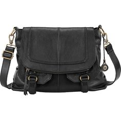 Sak Carmel Flap Messenger - Black - Crossbody Bags ($174) ❤ liked on Polyvore featuring bags, messenger bags, black, flap crossbody, messenger crossbody, the sak and cross body