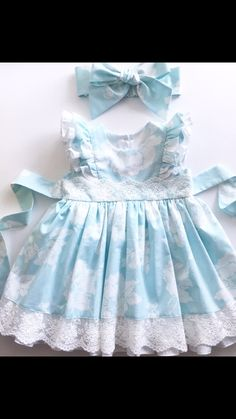 Little Dresses, Little Girl Dresses, Cute Dresses, Girls Dresses, Baby Girl Fashion, Kids Fashion, Baby Dress Patterns, Kids Frocks, Frock Design