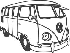 VW Bus for drawing on baby things