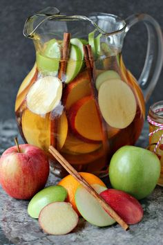 Easy Apple Sangria only takes about 10 minutes to make. Great for unexpected…