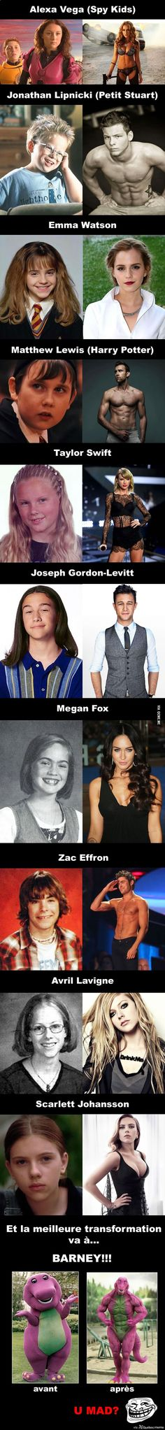 Merci Puberté! 11 célébrités qui ont ultra bien grandi