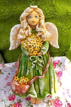 Twórczy Świat Joanny: Nowy stary zielony anioł ;)