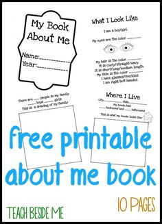 about me books for kids - Printable Books For Kids