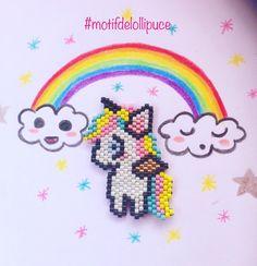 """0 mentions J'aime, 1 commentaires - Lollipuce (@lollipuce) sur Instagram : """"Aujourd'hui, envie d'une mignonerie donc voilà une petite licorne kawaii. #motifdelollipuce…"""""""
