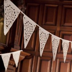 Perfect Wedding bunting ivory lace banner by BaloolahBunting, via Etsy