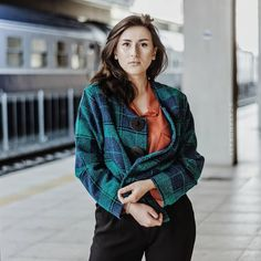 Waiting for the train with my fulfilled dreams to arrive. Green Blazer, Photo Credit, Waiting, Train, Dreams, Elegant, Casual, How To Wear, Outfits