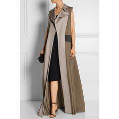 Mary Katrantzou Embellished sleeveless silk and wool coat (£1,782) ❤ liked on Polyvore