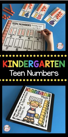 TEEN NUMBERS - worksheets - math centers - assessment - FREE printables #kindergarten #firstgrade #kindergartenmath #firstgrademath