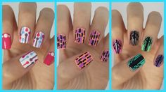 Easy Nail Art For Beginners!!! #14 | MissJenFABULOUS. i don't love the first 2, but the last one looks so complicated but isn't and looks really cool!