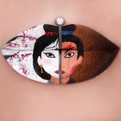 16 Creative Lip Makeup Art Trends in 2019 - Unechtes gemūse - Make Up İdeas Lip Art, Lipstick Art, Matte Lipsticks, Lipstick Designs, Lip Designs, Make Up Designs, Disney Makeup, Nice Lips, Make Up Art
