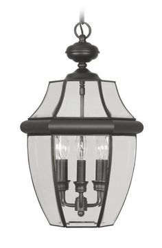Livex Lighting 2355-04 Monterey Outdoor Chain Hang in Black