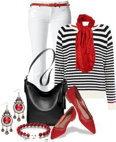 """""""Striped Top Contest II"""" by brendariley-1 ❤ liked on Polyvore"""