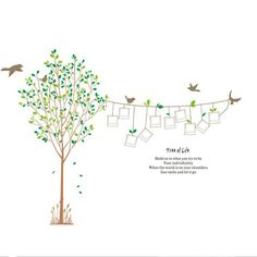 Fangeplus(TM) DIY Removable Tree of Life with Birds Word Ten Picture Frames Line Art Mural Vinyl Waterproof Wall Stickers Bed Room Decor Livingroom Decal Sticker Home Wallpaper 90.6''x66.9'' *** Startling review available here  (This is an amazon affiliate link. I may earn commission from it)