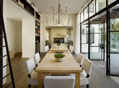 Find home projects from professionals for ideas & inspiration. The Grange by Feldman Architecture Dining Room Paint, Dining Room Design, Dining Room Furniture, Style At Home, Modern Farmhouse Exterior, Farmhouse Style, Farmhouse Plans, Beautiful Dining Rooms, Classic House