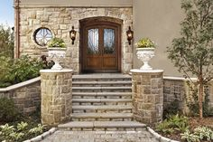db-a1260-st-dd Aurora fiberglass doors are made to look and feel like solid wood, without any of the maintenance. Craftsman style door shown is displayed with two full glass sidelights, and decorative glass.