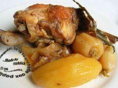 Lapin au cidre, oignons, navets et pommes de terre, Recette Ptitchef