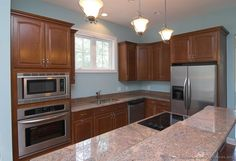 #Kitchen Idea of the Day: Take a look at these pink granite colors.