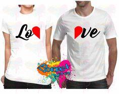 Camisa LOVE Dia dos Namorados kit 2 Pçs