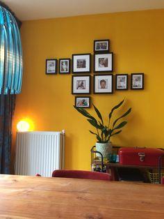 Mijn gele muur wordt steeds mooier!