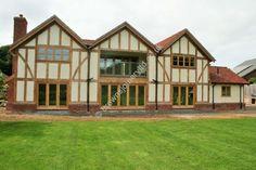 Oak Windows in a Border Oak house, supplied by www.brownsjoineryltd.co.uk