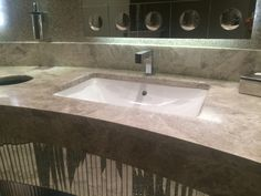 Comercial Vanity Countertop With Undermount Sinks.