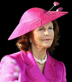 Queen Silvia of Sweden at the Bernadotte bicentenary celebrations in August 2010