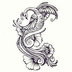 Beautiful henna Peacock Tattoo on Pinterest -Tattoo 4 Me