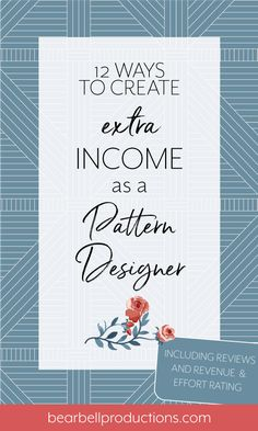12 ways to make extra income for your creative business — Bear Bell Productions Design Textile, Design Floral, Fabric Design, Design Color, Editorial Illustration, Pattern Illustration, Web Design, Creative Design, Graphic Design