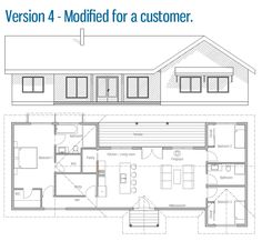 Home Plan Modern House Plan to Modern Family. Pool House Plans, New House Plans, Modern House Plans, Modern House Design, Modular Home Plans, Modular Homes, Prefab Homes, Log Homes, Cost To Build