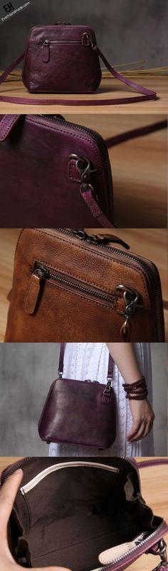 Handmade Leather phone purse shoulder bag for women leather crossbody bag - My Favorites Bag For Women Leather Crossbody Bag, Leather Purses, Leather Handbags, Leather Wallet, Satchel Bag, Leather Bags Handmade, Purses And Handbags, Fashion Bags, Shoulder Bag