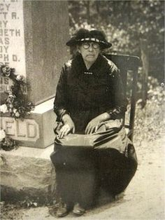 """Levisa """"Levicy"""" Chafin Hatfield (1842-1929) was the wife of William Anderson """"Devil Anse"""" Hatfield.  Levicy outlived her husband by eight years.  She died of Pneumonia.  She is buried at the Hatfield Family Cemetery in Logan County, West Virginia."""