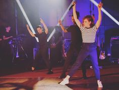 """French singer-songwriter Christine and the Queens performed """"Tilted"""" and…"""