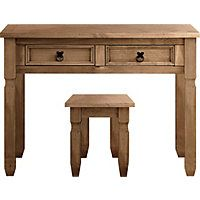 Puerto Rico Dressing Table And Stool Dark
