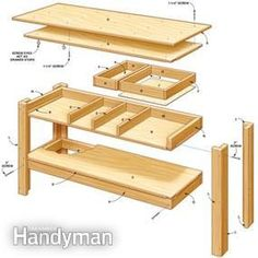 With this workbench plan even a beginner can build a workbench strong enough to hold a V-8 engine!