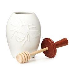 HONEY POT | honeypot, ceramic kitchen pottery, honey dipper | UncommonGoods