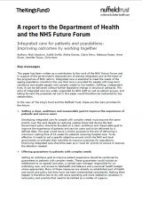 This report from The King's Fund and Nuffield Trust is intended to support the Department of Health's development of a national strategy on integrated health and social care. Library Services, Integrity, Trust, Health, Data Integrity, Health Care, Salud